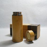 巨匠厂家定制日韩式环保原竹不锈钢内胆竹子保温杯 礼品竹杯