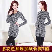 2014新款长袖t恤女装 韩版加绒加厚打底衫 秋冬女士宽松女式上衣