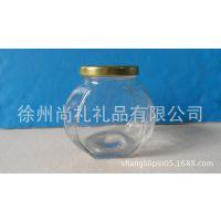 玻璃瓶375ml水容量/500ml蜂蜜瓶六棱/透明玻璃瓶高白料