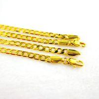 24K镀金首饰 久不退色 时尚高档黄铜镀金仿真饰品 仿黄金项链