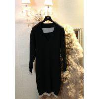 DHR 2014秋冬新品韩国代购ALU同款重磅羊毛针织连衣裙
