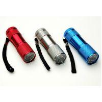 9LED手电筒 迷你手电筒 铝合金小手电 强光小手电 便携户外小礼物