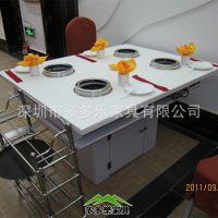厂家专业生产工艺精致的火锅台 大理石无烟火锅桌 环保干净餐桌