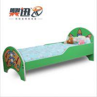 供应带护栏 儿童套房卡通儿童床男孩单人床1.4米小床王子床烤漆童床