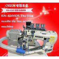 供应进口奥玲电脑双切曲臂拼缝机 工业拼缝机 服装缝纫机