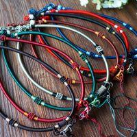 高档玉坠挂绳 翡翠挂绳 纯手工精编 玉珠线 可调节长度