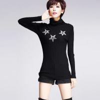2014秋冬新款毛衣 高领 星星烫钻保暖打底衫 百搭毛衣