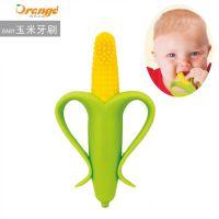 厂家直销 橙式良品儿童玉米牙刷 磨牙棒 婴儿磨牙牙胶 咬胶磨牙棒