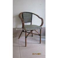 供应咖啡仿竹藤竹纹椅 户外家具藤铝藤椅 餐椅户外休闲酒店成套家具