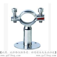 广州方联供应201带底盘管子夹 不锈钢管支架 带底座管支架 卫生级管夹 管卡