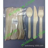 供应ls-140木质刀叉勺 木质餐具 节日一次性餐具 套装