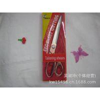 厂家直销 不锈钢红盒镀铜9.5寸剪刀 镀金剪 多用剪刀 裁缝剪
