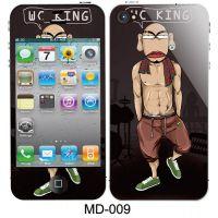 iPhone5手机保护膜 手感膜批发 MD苹果5代手机卡通贴膜 闪钻彩膜