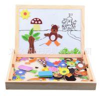 批发 磁性拼图画板 写字板 绘画板幼教玩具用具 木玩子动物拼拼乐
