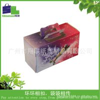 厂家专业生产彩色圆点方形毛巾蛋糕礼盒、纸盒、礼品盒
