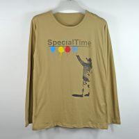 2014秋季新款上衣 男式长袖T恤 韩版宽松时尚印花t恤打底衫男潮
