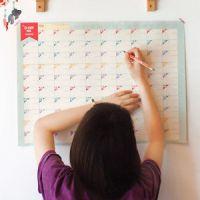 Z33韩版100天倒计时日历计划表 周期表 学习计划表