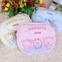 多比兔 婴儿毛巾定型枕 宝宝小枕头 太空棉枕芯 22*19CM D4057