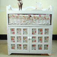 时光屋 欧式田园布艺风格 方便储物 使用藤编 实木抽屉柜子
