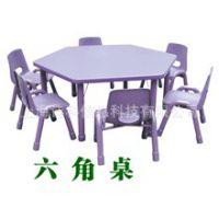 幼儿塑料桌椅儿童桌子可升降正方形课桌幼儿园桌豪华型
