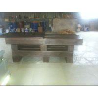 酒吧桌洽谈桌门前收纳餐桌 办公桌 实木家具碳化 木桌椅收营台