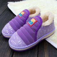 新品儿童保暖卡通棉拖鞋家居拖鞋时尚拖鞋包跟木地板棉拖宝宝棉鞋