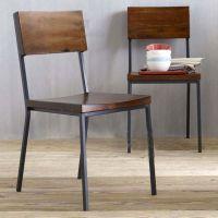 美式复古实木吧台椅仿古做旧餐桌椅 饭店餐椅 椅子酒店实木餐椅