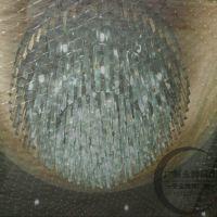 供应水晶灯防坠网 透明防护网批发加工 专业灯饰安全网生产厂家