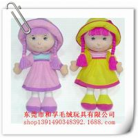 毛绒玩具小女孩男孩 工厂定做中国娃娃玩偶 动漫人物布娃娃