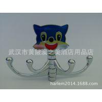 厂家直销 锌合金创意蓝猫衣钩 卫浴挂件收纳衣帽钩 活动挂钩