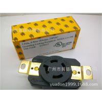 L15-20美标插头插座 美标防松插座 引挂式工业插座 四芯美规插座