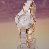 批发仿陶瓷手表 玫瑰金时尚手表 韩国女式手表 MM***爱 8793