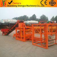 小型水泥空心砖机全套生产线出口、免烧砖机、水泥实心砖机QTJ4-26C