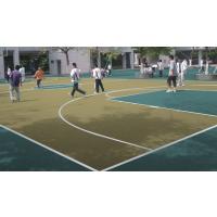 桂林可停车硅PU篮球场塑胶地坪漆价格 规格3-4-5MM