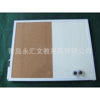 厂家直供 环保软木板半软半磁白板广告板留言组合板照片记事白板