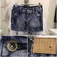 2013年新款蓝黑褶皱牛仔短裙子迷你裙时尚超短裙半身裙