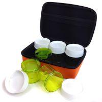 出口韩国正品selpa户外调料盒套装6件套 烧烤调料瓶 便携调味罐
