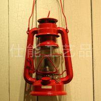 V235欧式乡村风格手提式马灯 复古煤油灯工艺品 金属工艺品