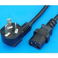 电线直销电脑主机电源线C13品字尾插头电源线公母对插插头电源线