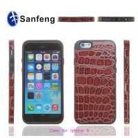 厂家直销 iPhone6三合一鳄鱼纹贴皮手机保护套 新款时尚手机壳