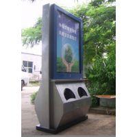 供应不锈钢304广告垃圾箱