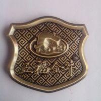 定制锌合金电镀古金立体铭牌 五福金牛坐垫标牌制作