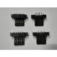 AF主体沉板超薄型 带定位 镀金端子 移动电源USB接口