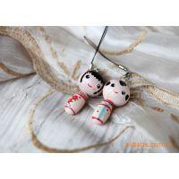 2款 情侣手机链 手机挂件娃娃饰品 包包挂饰 网店礼品批发
