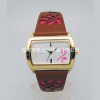 OEM手表定制工厂 方形不锈钢石英手表 品质好又防水 稳达时