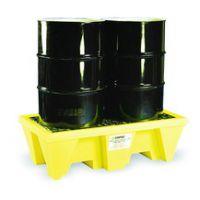 安徽贝辉供应2桶盛漏托盘5253-YE 2桶防泄漏托盘 2桶油桶托盘