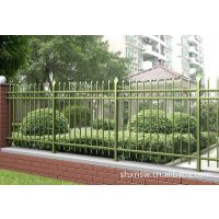 机关学校围栏 铁艺护栏网 方管栅栏、上海护栏网价格