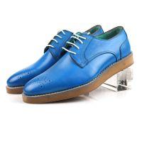 新款男士商务休闲皮鞋 低帮皮鞋 韩版单鞋 英伦潮流厚底皮鞋 真皮