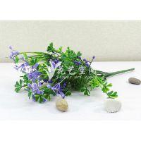 价格实惠 7叉带花四叶草 仿真植物 仿真叶子 仿真配草