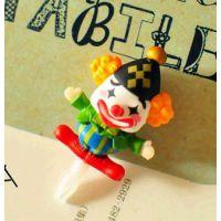批发新款韩国卡通马戏团小丑 iphone5 4S手机防尘塞配件 挂件 4款